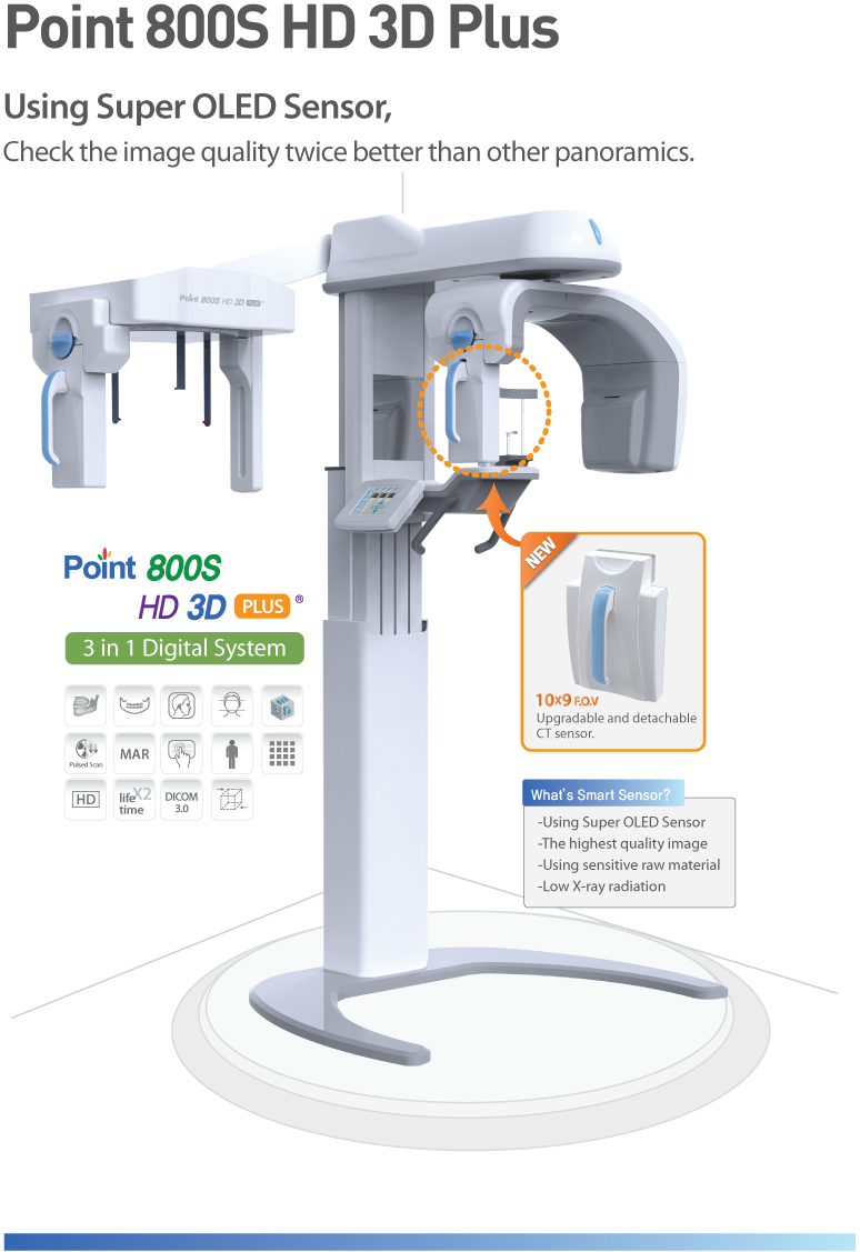 POINT 800SHD 3D Plus (Extra Oral Imaging)